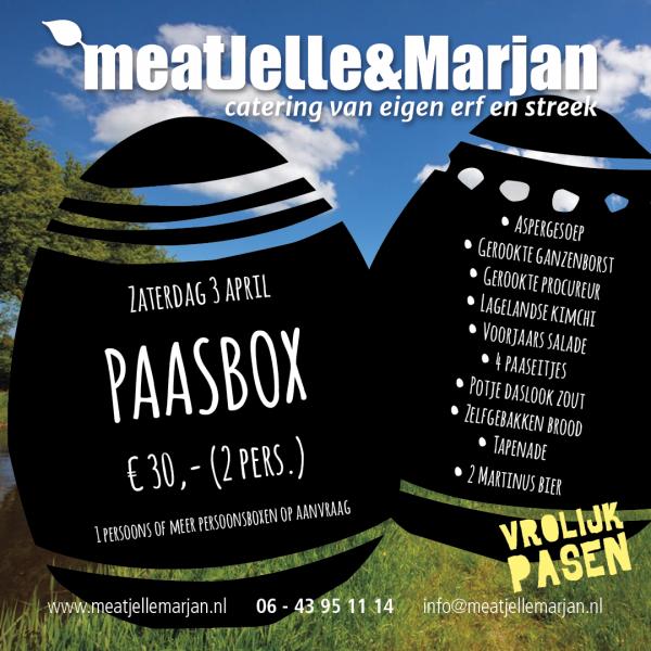 Meat Jelle & Marjan, catering, paasbox, Lageland, Groningen, studio Hille