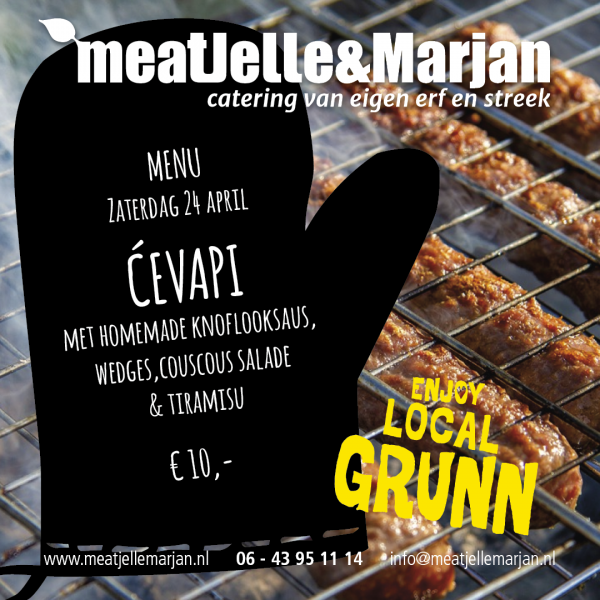 ćevapi, meatjellemarjan, lageland, catering, afhaalmaaltijden, Groningen, studioHille