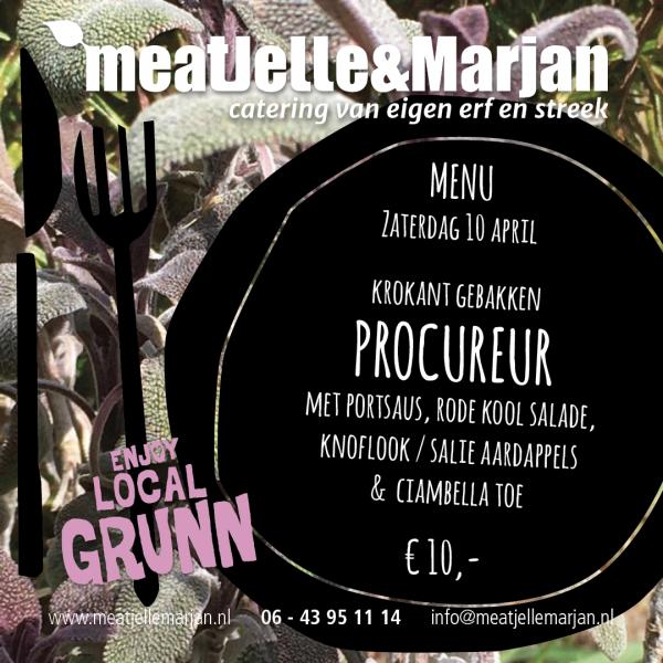 MeatJelleMarjan, Lageland, Groningen, Catering, Afhaalmaalijden, Procureur, studio Hille
