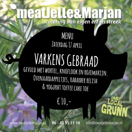 Meat Jelle en Marjan, catering, Lageland, Groningen, varkensgebraad, studioHille