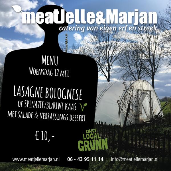 Meat Jelle & Marjan, catering, Lageland, Groningen, Lasagne, studioHille