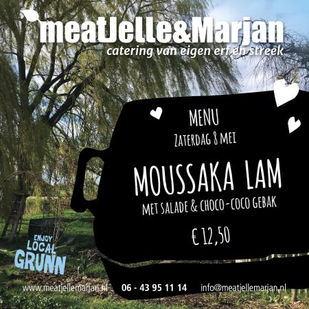 Meat Jelle & Marjan, afhaalmaaltijden, catering, Lageland, Groningen, moussaka, studioHille