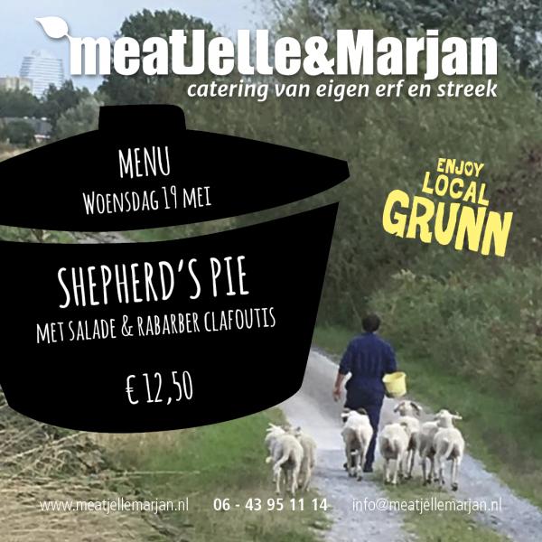 Meat Jelle & Marjan Lageland Groningen Afhaalmaaltijden Shepherd's Pie studio Hille