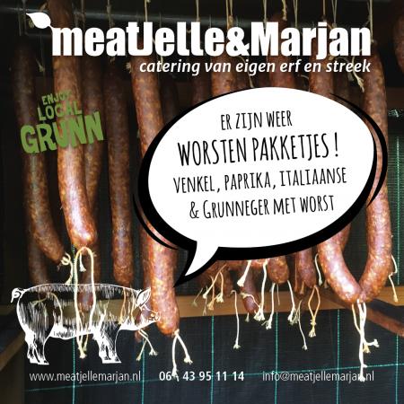 Meat Jelle en Marjan, catering, worst, Lageland, Groningen, studioHille