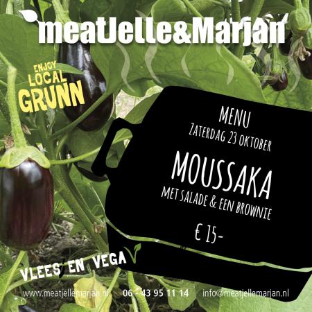 Meat Jelle en Marjan, moussaka, afhaalmaaltijd, Lageland, Groningen, studioHille