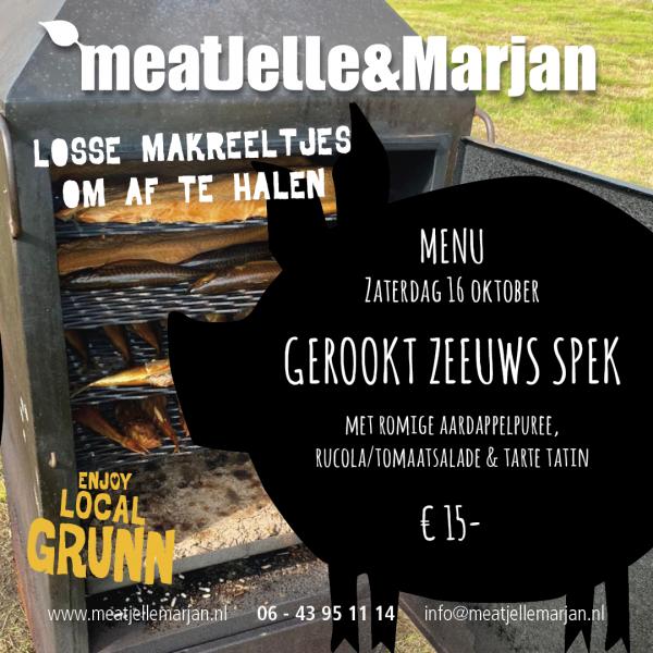 Meat Jelle en Marjan, Lageland, catering, rookoven, studioHille